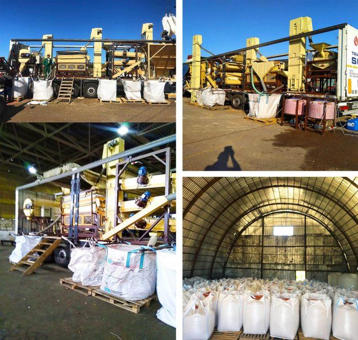 Мобильный зерновой завод в работе | Фадеев Агро