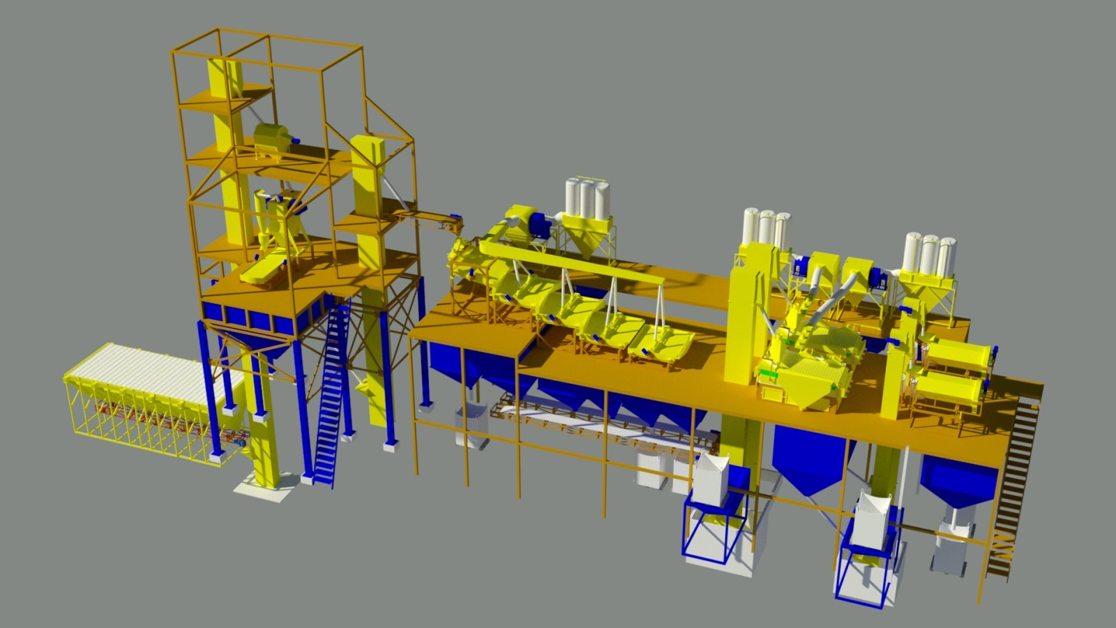 Зерноочищающий завод производительностью до 10т Фадеев Агро